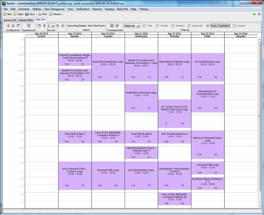 Room schedule (lecture hall)